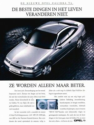 1994 Opel Calibra V6 (Dutch, 1pg.) Advertisement (AAB.135)
