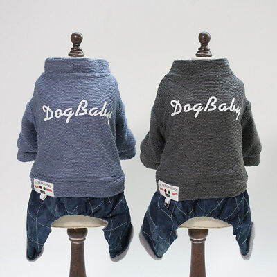 Thickening Warmer, Pet Dog Winter Jacket,Gray & Red ,S&M&L