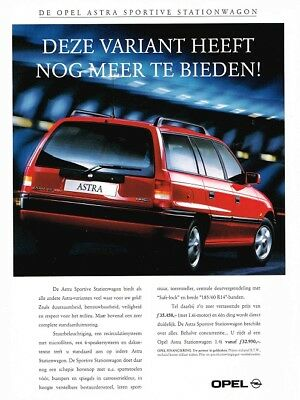 1994 Opel Astra Sportive Stationwagon (Dutch, 1pg.) Advertisement (AAB.155)