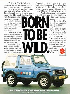 1985 Suzuki SJ 410 413 (Dutch, 1pg.) Advertisement (AAB.161)