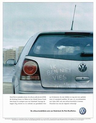 2007 Volkswagen Polo BlueMotion (Dutch, 1pg.) Advertisement (AAB.184)