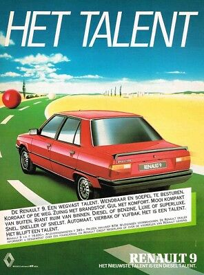 1983 Renault 9 (Dutch, 1pg.) Advertisement (AAB.251)