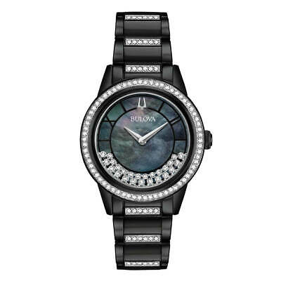 Bulova 98L252 Women's Crystal TurnStyle MOP Dial Two Tone Watch