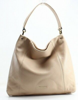 2d0b2113c7c2 Michael Kors NEW Beige Oyster Pebble Leather Lex Hobo Shoulder Purse  368-   076