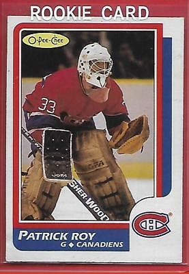**patrick Roy**86/87 O-Pee-Chee 53 Rookie Ex+(*montreal Canadiens*)