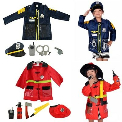 New Kids Occupation Uniform Boys Girls Roleplay Clothes Props Fancy Dress Outfit