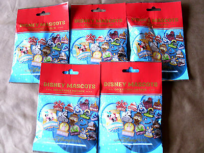 Disney * MASCOTS * 5 PACKS * NEW 5-pin Collectible Mystery Pack Pins