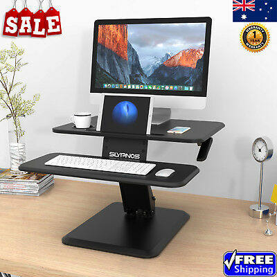 Portable Foldable Laptop Stand Tray Lap Table Desk w/ Mouse Pad + Cup Holder AU