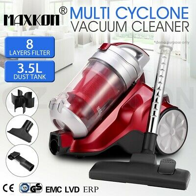 3.5L 2000W Bagless Vacuum Cleaner Multi Cyclone HEPA Filtration System Red