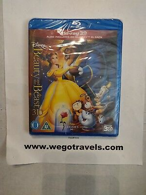 Disney's BEAUTY AND THE BEAST Brand New 3D BLU-RAY 2D Region-Free Import new