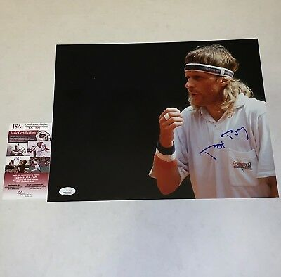 Bjorn Borg Tennis Legend signed 11x14 photo Wimbledon Grand Slam Champion JSA