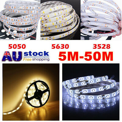 5630 3528 5050 SMD Waterproof LED Flexible Strip Lights Cool/Warm White Xmas 12V