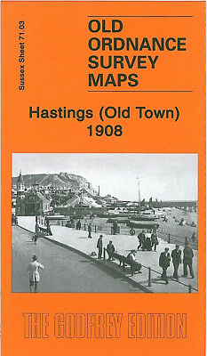 Old Ordnance Survey Map Hastings Old Town 1908 Collier Road George Street