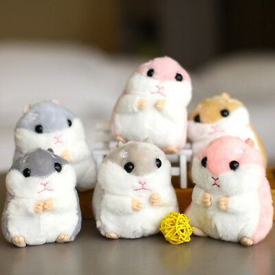 Cute Mini Cartoon Hamster Soft Plush Toy Stuffed Animals Doll Baby Kids Gifts UK