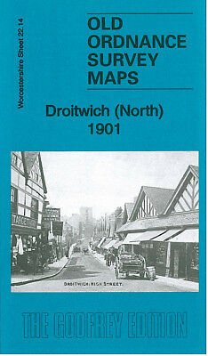 Old Ordnance Survey Map Droitwich North 1901 Impney Park The Vines St Georges Sq