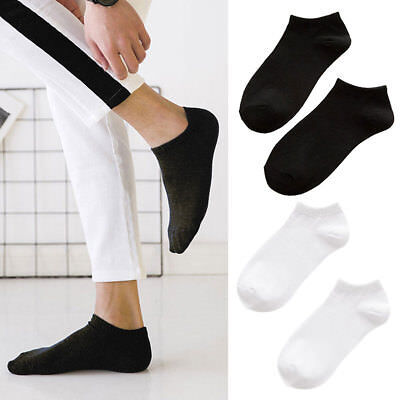 5 Pairs Mens Sports Socks Crew Ankle Low Cut Casual Soft Breathable Short Socks