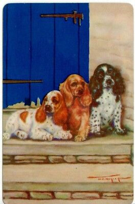 vintage Playing cards swap cards  DOGS  spaniels