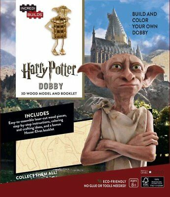 Incredibuilds: Harry Potter: Dobby 3D Wood Model and Booklet by Jody Revenson...