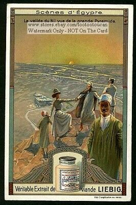 Ancient Egyptian Pyramids and Valley Of The Nile 1910 Trade Ad Card