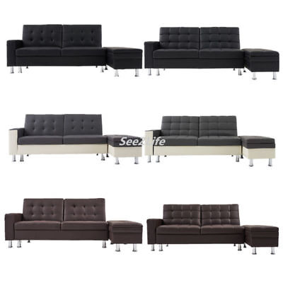 Modern Faux Leather Recliner 3 SeaterSofa Bed Storage Box OttomanFootstool UK
