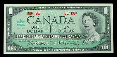 Celebrate Canada's 100th 1867-1967 $1 BANK NOTE BILL Uncirculated GUNC