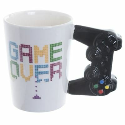 Game Over Mug 3D Controller Handle Novelty Tea Coffee Cup Xmas Stocking Gift Toy