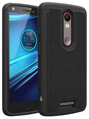 Case Defender for MOTOROLA DROID TURBO 2 Armor Cover Shock Absorption Dual Layer