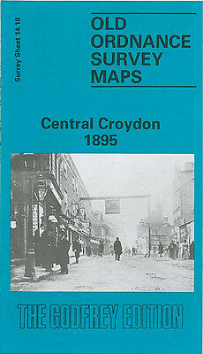 Old Ordnance Survey Map Central Croydon 1895 Derby Rd Combe Rd Old Town