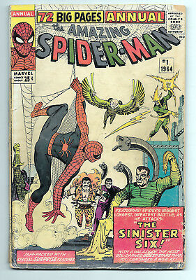 Amazing Spider-Man Annual #1 G+ 2.5 1st Appearance of The Sinister Six