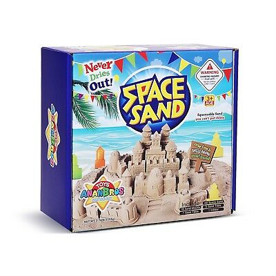 Kinetic Play Sand, Magic Space Sand Castle Building Kit, Squeezable Beach Sand 2