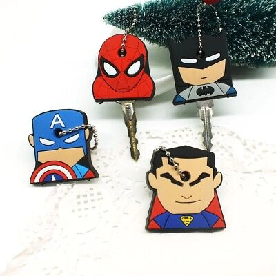 Super Hero Anime Marvel Cap Batman Thor Hulk Key Holder Iron Man KeyChain Silico
