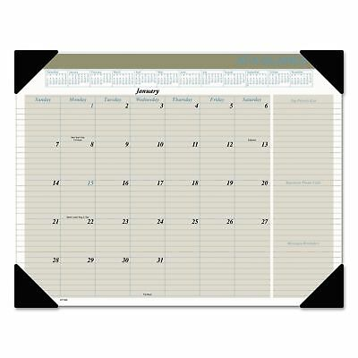 AT-A-GLANCE Executive Monthly Desk Pad Calendar, 22 x 17, Buff, 2019