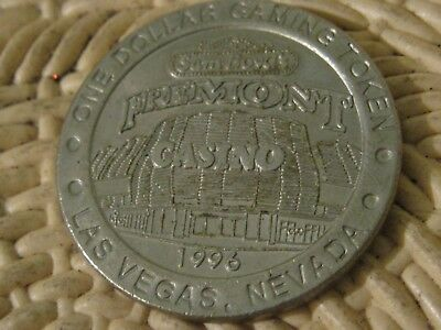 1996 Vintage Sam Boyd Freemont Hotel and Casino Las Vegas Nevada $1 Token Coin