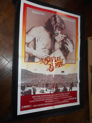 Star Is Born  Original One Sheet   Barbra Streisand  Kris Kristofferson