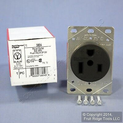 Pass & Seymour Straight Blade Single Receptacle NEMA 6-50R 50A 250V 3804 Boxed