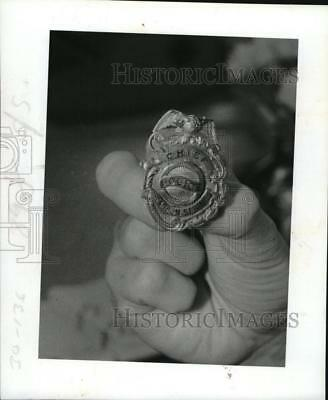 1984 Press Photo Police Chief Badge - RSM10281