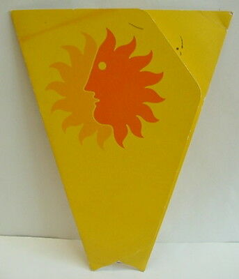 Vintage NATIONAL AIRLINES Sun Tanning Cardboard Fold Out Reflective Advertising