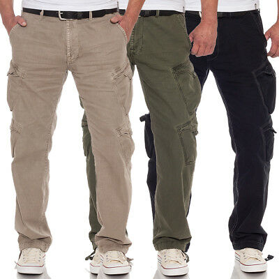 orologio 93fb7 a948d JET LAG UOMO Pantaloni Combat Casual Outdoor Tasche Laterali Relaxed Fit