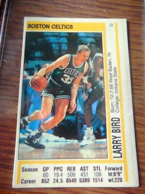 1991-92 Panini Sticker GREEK UNSTUCK #146 Larry Bird Celtics EXTREMELY RARE