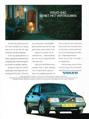 1990 Volvo 440 (Dutch, 1pg.) Advertisement (AAB.625)