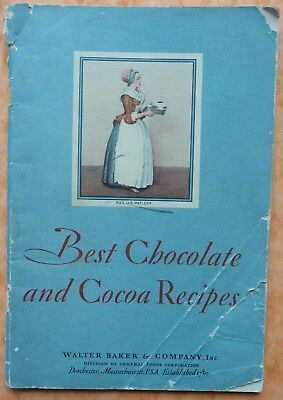 VINTAGE Best Chocolate & Cocoa Recipes Booklet~1931~Walter Baker~General Foods