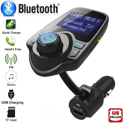 Wireless In Car Bluetooth FM Transmitter MP3 Radio Adapter Kit USB Charger