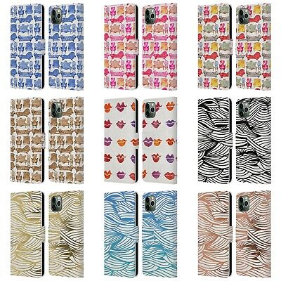 CAT COQUILLETTE PATTERNS 2 LEATHER BOOK WALLET CASE FOR APPLE iPHONE PHONES