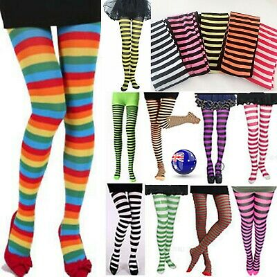 AU Women / Girl Children Elf Xmas Bee Striped Pantyhose Tights Costume Stockings