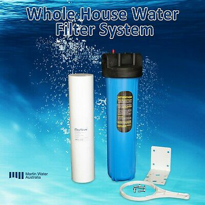 """Whole House Water Filter System 20"""" x 4.5"""" Big Blue (1 Stage)"""