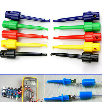 10pcs Lead Wire Kit Test Hook Clip Grabber Test Probe SMT/SMD Kit For Multimeter