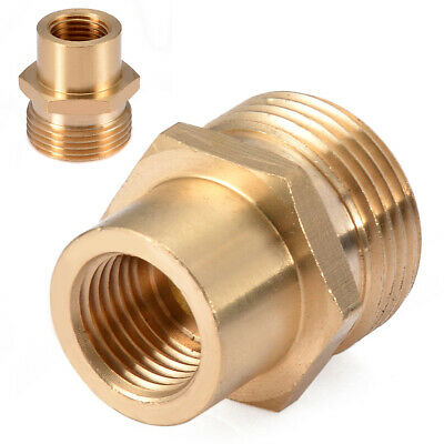 "Brass Washer Snow Foam Lance Adapter Coupler 1/4"" F - M22 For Kranzle Karcher"