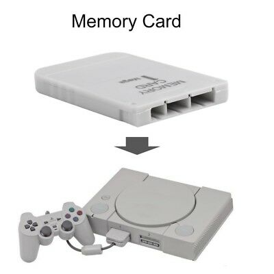 White Memory Card For Playstation 1 One PS1 PSX Game Useful Practical Afforda