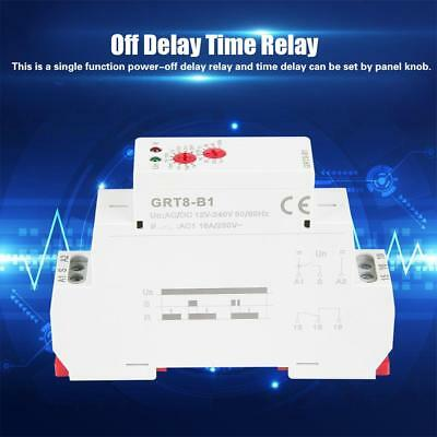 GRT8-B1 Mini Power Off Delay Time Relay 35mm DIN Rail AC/DC 12V~240V Delay Relay