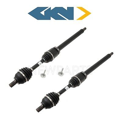 For Volvo C30 C70 S40 V50 Pair Set of 2 Front Left and Right CV Axle Shafts GKN
